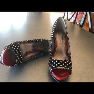Rampage Shoes - Adorable Peep Toe Shoes